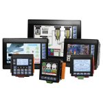 Integrated HMI and PLC with I/O